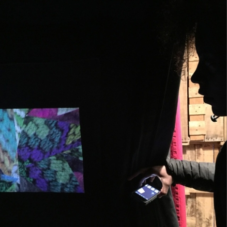 Lauren Cannon watching Bargello Magic